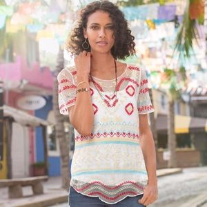 Sundance Goddess Of The Harvest Top Embroidered L